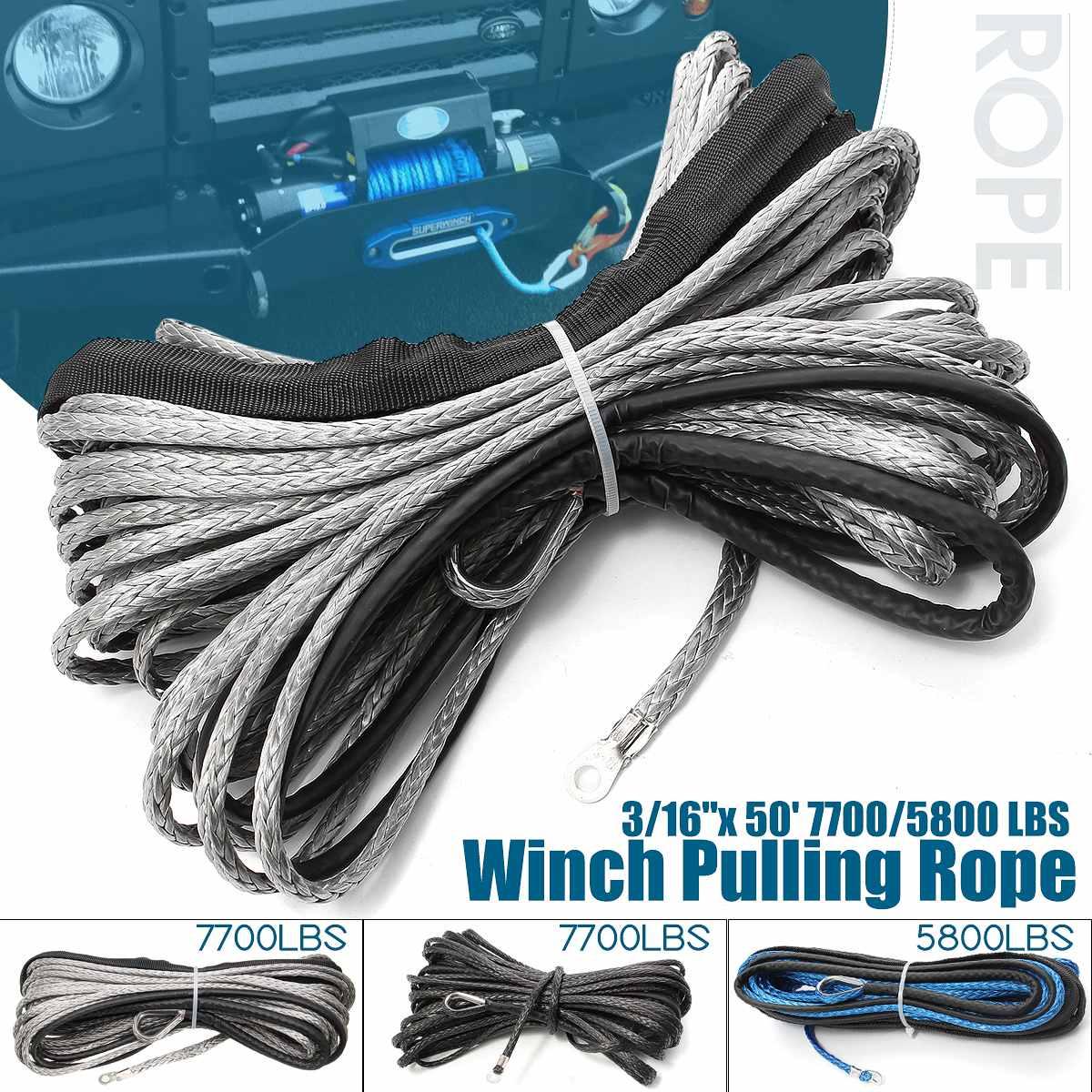 Cable de cuerda de cabrestante de 15m y 7700 libras, línea de...