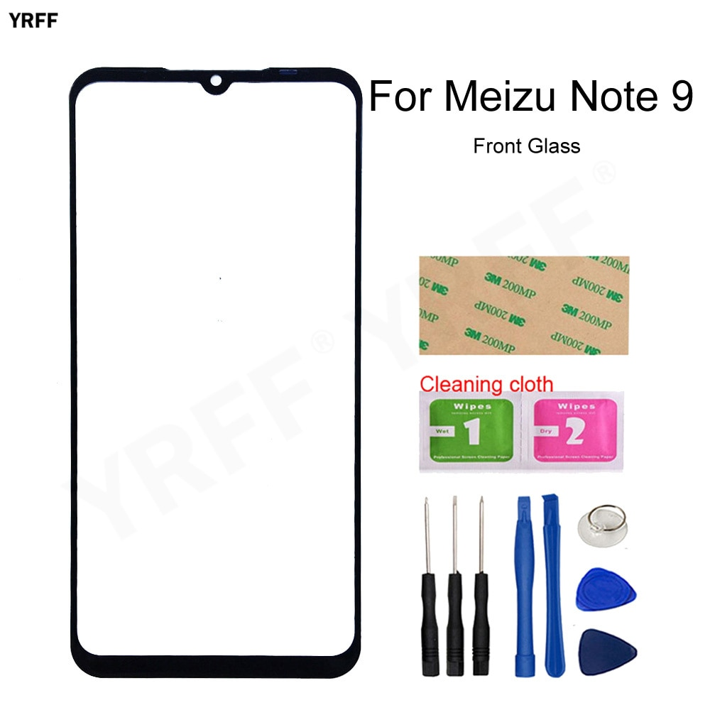6.2'' Mobile Front Outer Glass Panel Touch For Meizu Note 9 Front Glass Panel (No Touch Screen) Phon