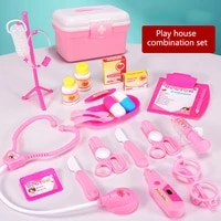 hot sale children play house doctor toy set simulation medicine box injection play house toy for baby kids toys