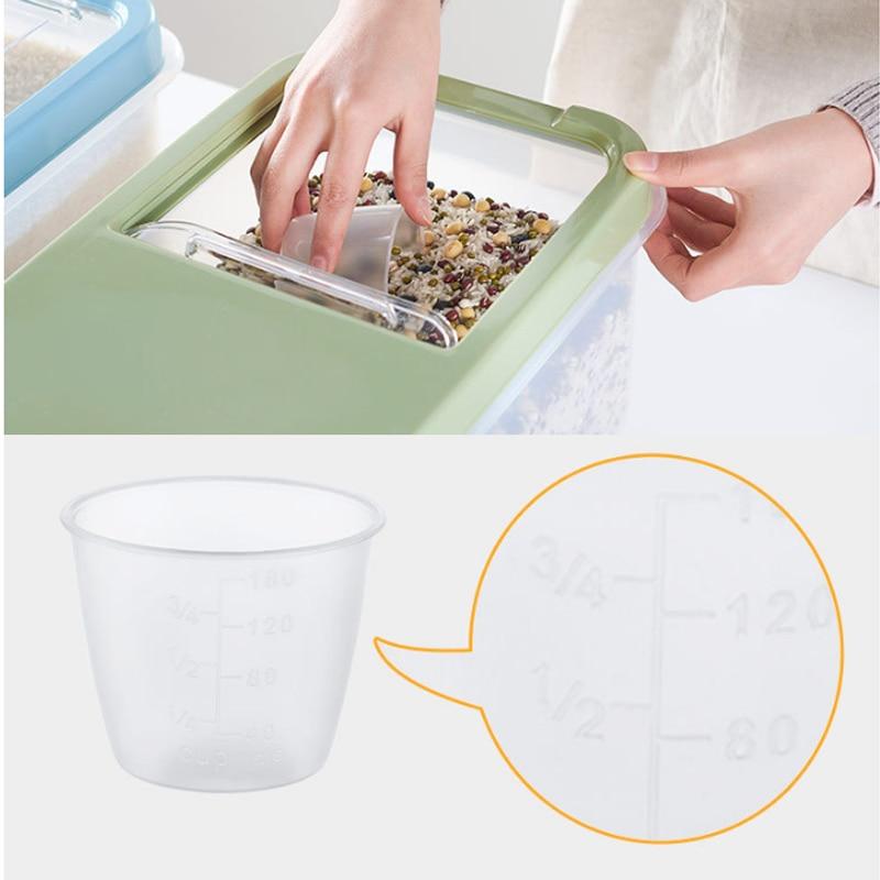صندوق تخزين أرز بلاستيكي ، 10 كجم ، محكمة الغلق ، مقاومة للرطوبة ، سعة كبيرة ، حبوب ، حبوب ، NDS