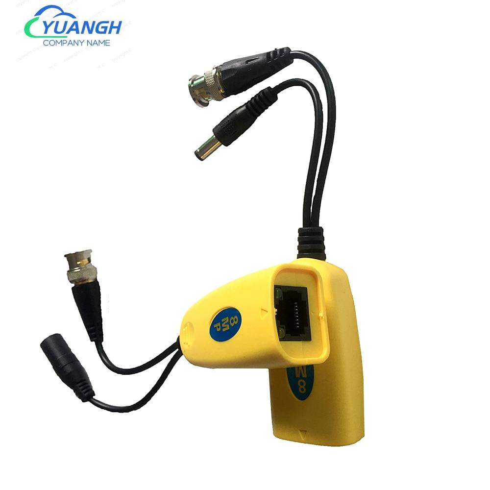 1 пара 8MP Пассивный CCTV Coax BNC Power Video Balun трансивер разъемы к RJ45 BNC Male для камеры видеонаблюдения