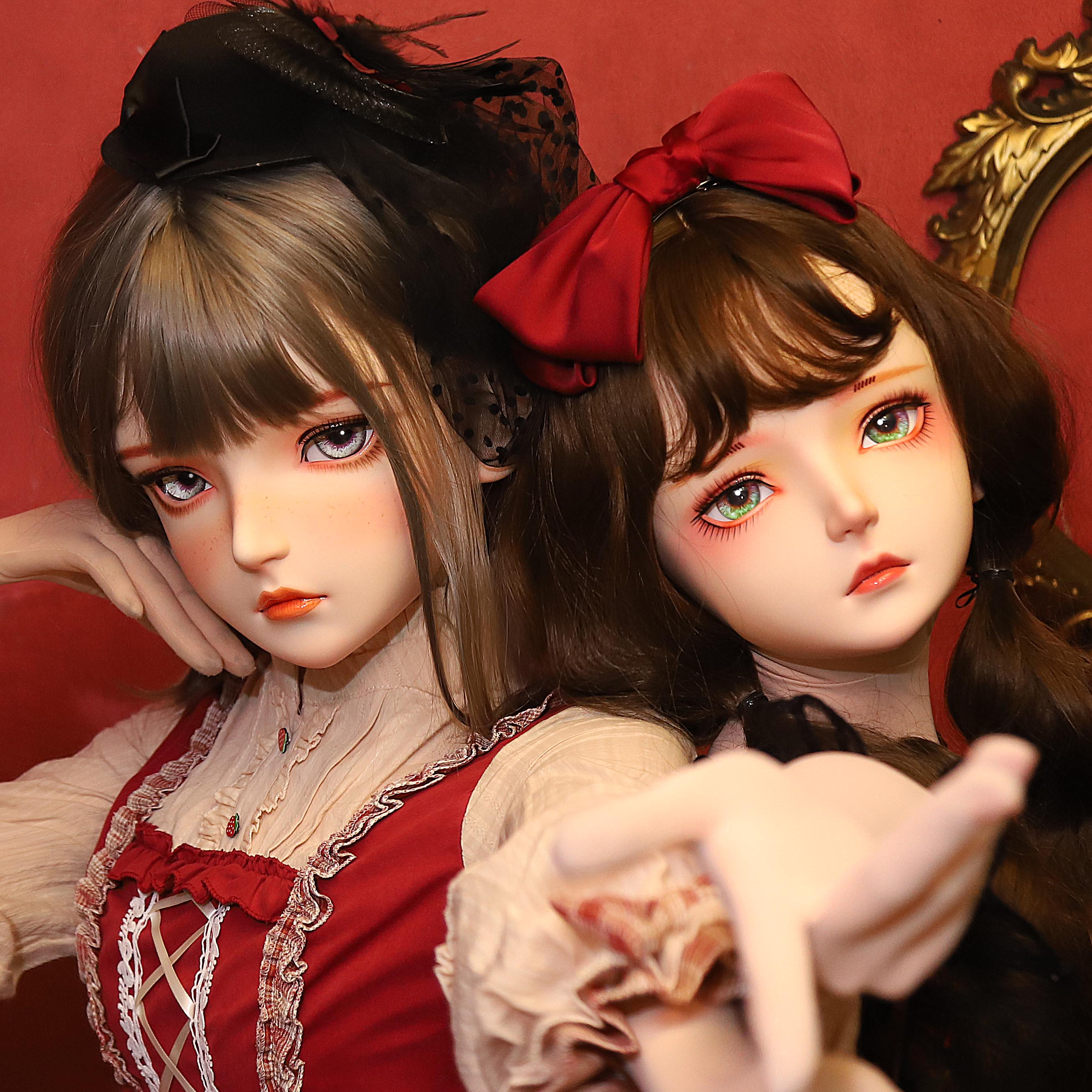 زي فتاة كرتوني ياباني من الراتينج ، شخصية ، نصف رأس ، زي كرتوني ، زي دمية كيجورومي ، قناع سحب الملكة (KM103A)