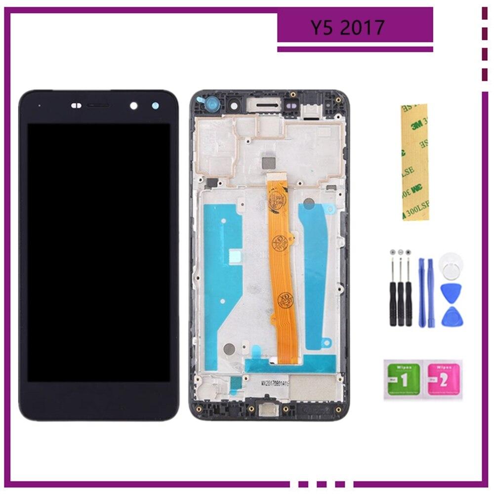 Y5 2017 display para huawei y5 2017 lcd digitador da tela de toque y5 iii display mya l02 l41 l22 peças nova jovem y6 2017 display