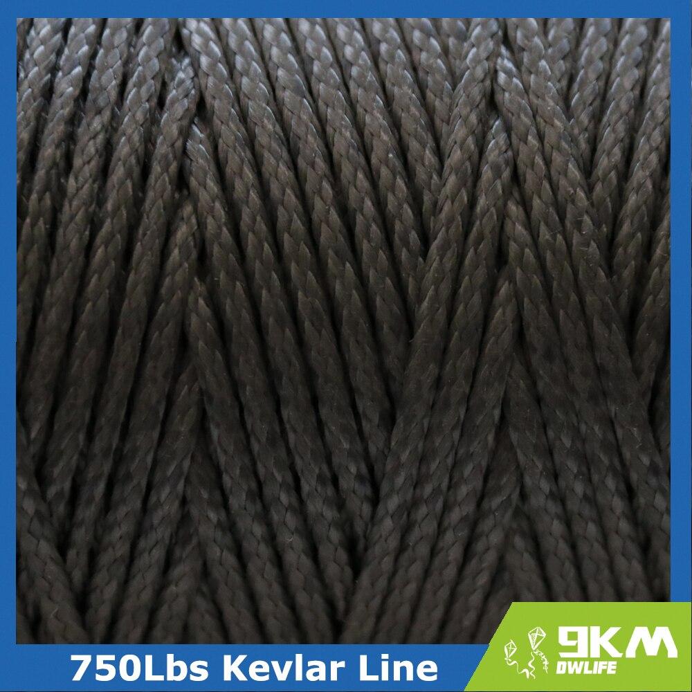 Купить с кэшбэком 50Lbs-2000Lbs Black Kevlar Line Braided Fishing Assist Line High Tensile Strength Tactical Rope KiteRefractory Backpacking Cord
