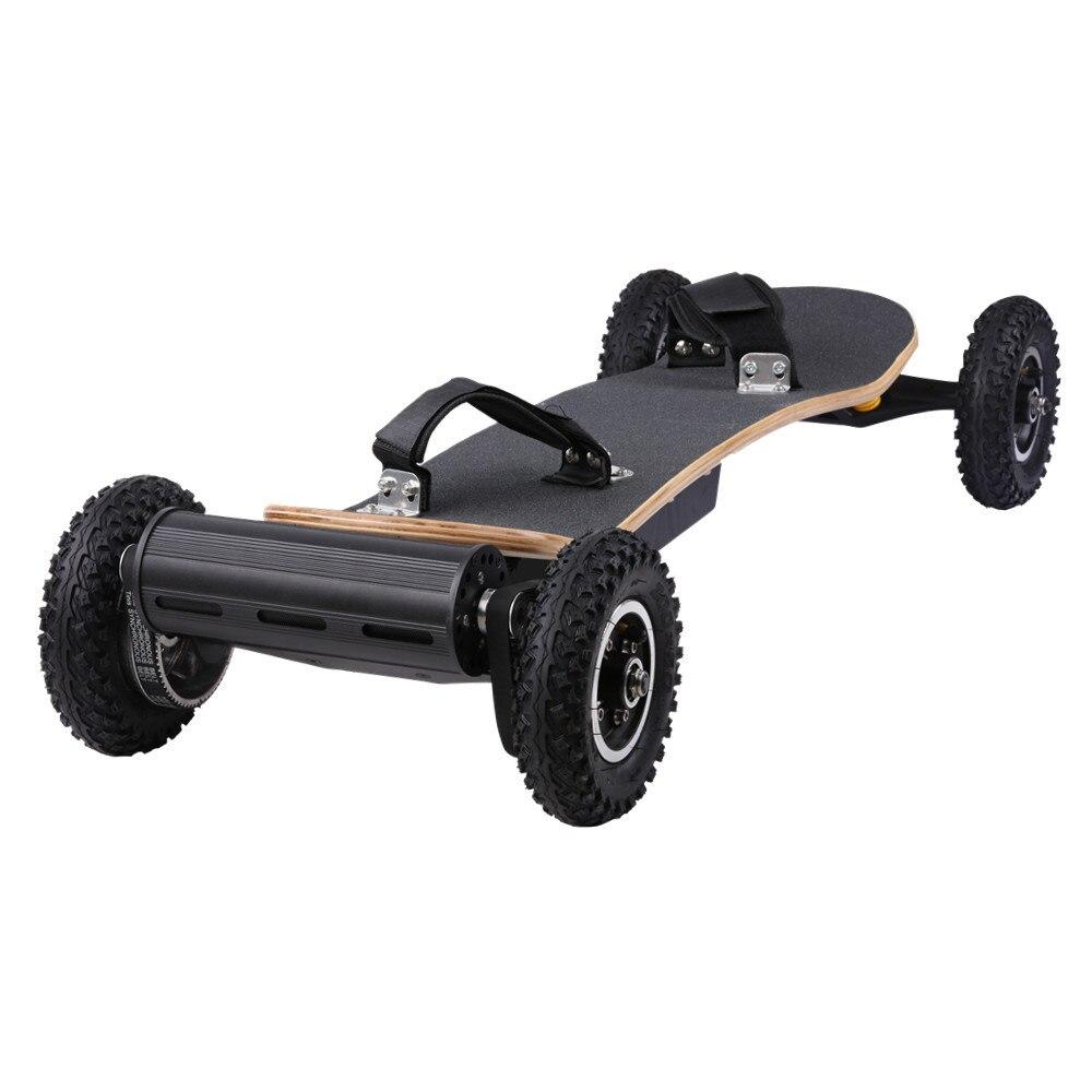 Новейшая модель, двойной бесщеточный двигатель, внедорожник, Лонгборд, резиновые колеса, ременной привод, вездеход, электрический скейтбор...