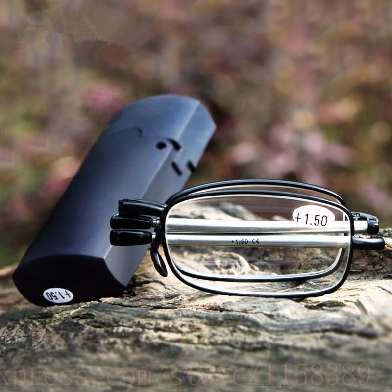 Очки для чтения складные с откидной крышкой, телескопические дужки из 2021 титанового сплава, ультралегкие очки для пресбиопии с диоптриями + ...