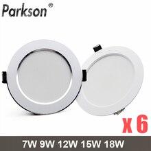 Downlight de LED rond encastré, 7W 9W 12W 15W 18 W, AC220V, 240 V, décoration intérieure,
