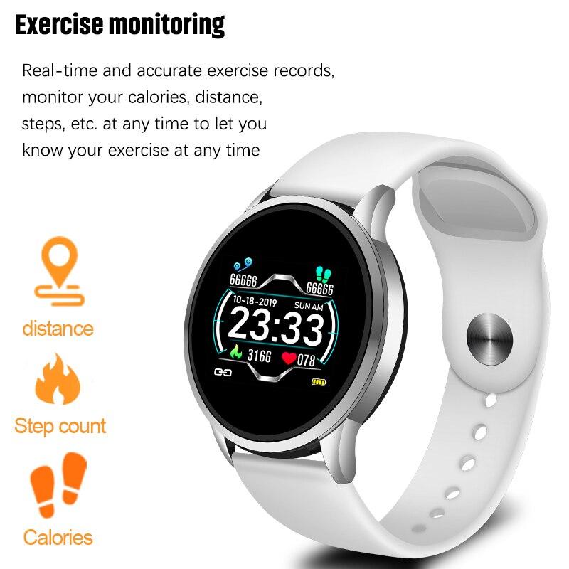 Montre de santé hommes femmes IP67 étanche Bracelet intelligent moniteur de fréquence cardiaque podomètre activité Fitness Tracker Bracelet fit bit