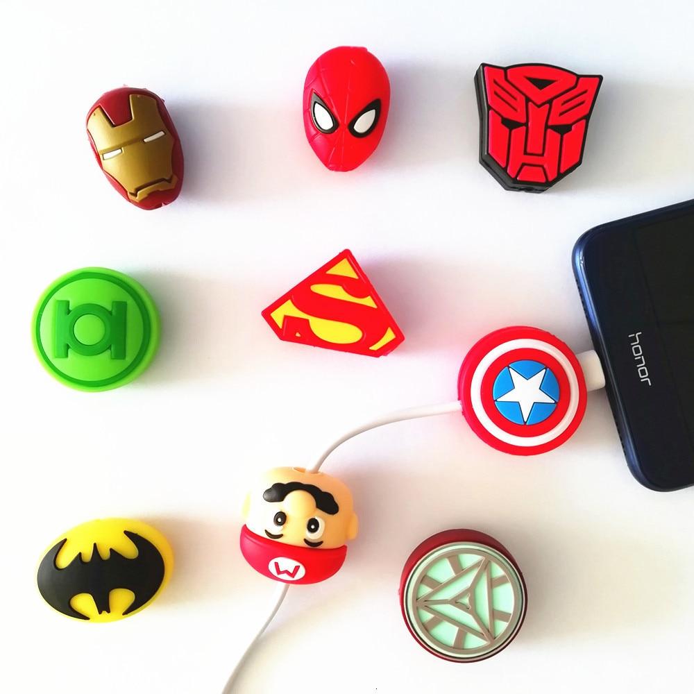 50 шт мультфильм животных кабель Protctor USB зарядное устройство для телефона защита данных крышка мини провода протектор кабель намотки для iPhone