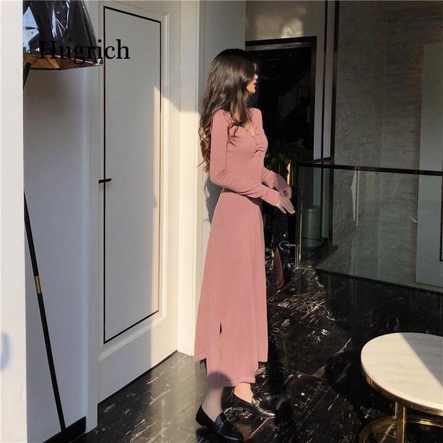 Autumn Korean Version of Slim Fitting Knitted Skirt for Gril 6