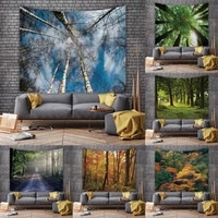 forest misty woods scenery tapestry home decoration wall cloth simple large size tapestry