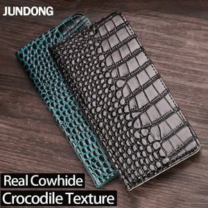 Genuine Leather Flip Phone Case For Meizu 15 16 16X 16th 17 Pro 6 7 Plus X8 Cover Magnetic Buckle Cowhide Crocodile Wallet Bag