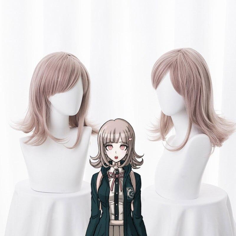 NANAMI CHIAKI peluca Super Danganronpa Cosplay peluca Anime Cosplay pelo sintético resistente al calor cabello de mujer