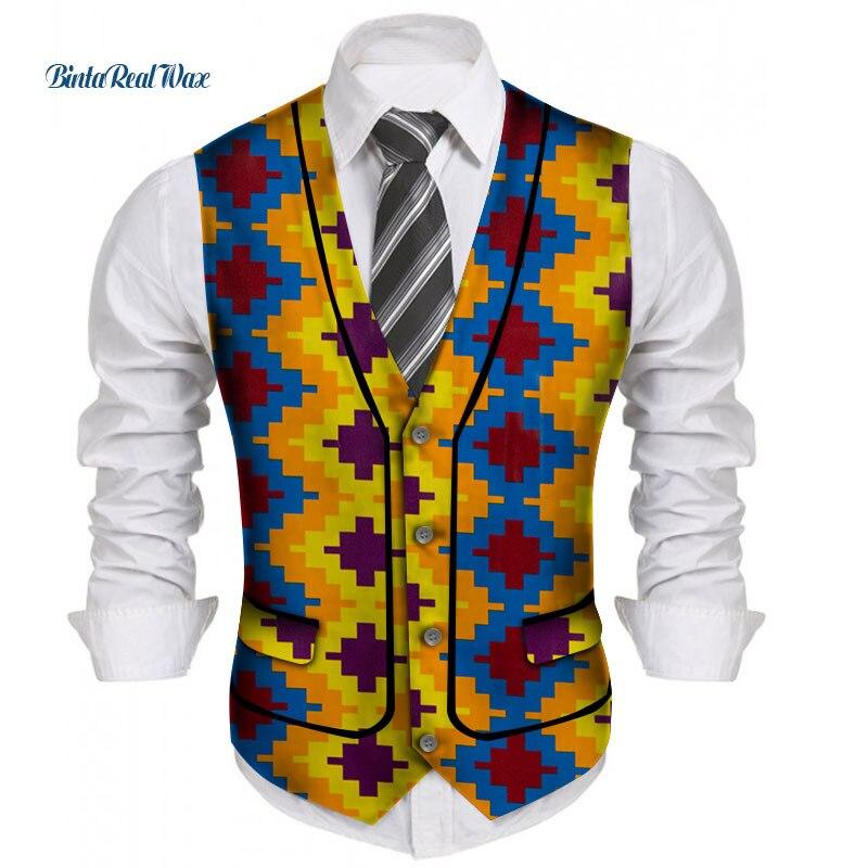 Мужская африканская рубашка на заказ, одежда Bazin Riche, лоскутный топ с принтом, жилет, 100% хлопок, Дашики, традиционная африканская одежда WYN1208
