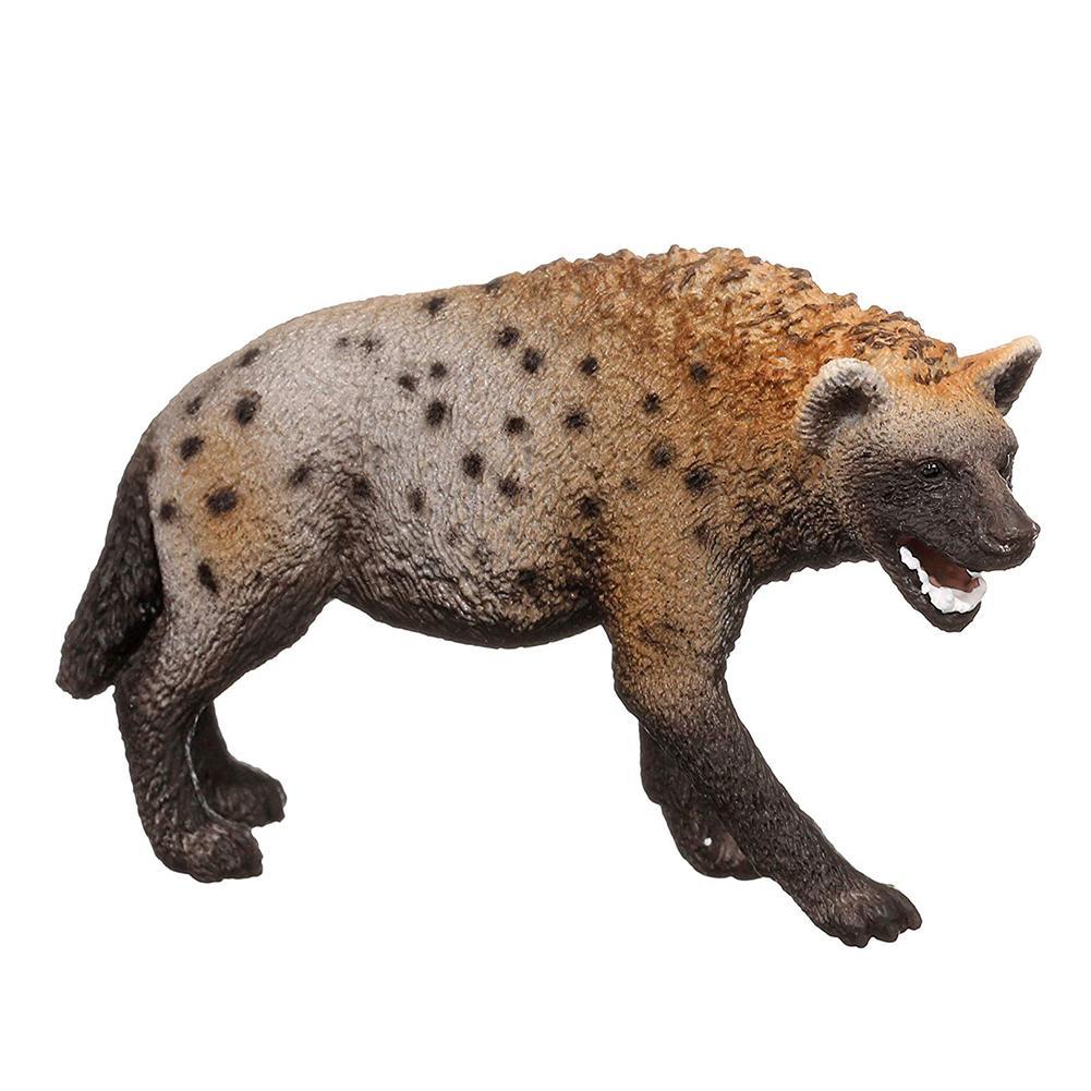 Figura de Hyena de PVC, Animal salvaje, 3,4 pulgadas, juguete en preescolar, 14735