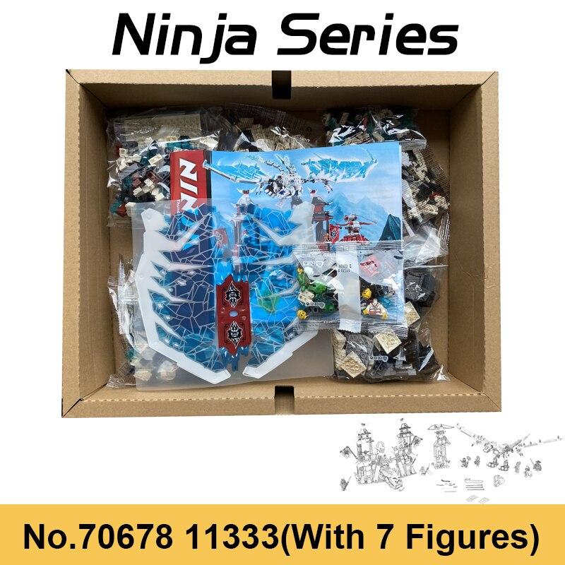 blocos de construcao do castelo ninja frozen brinquedo para criancas presentes de