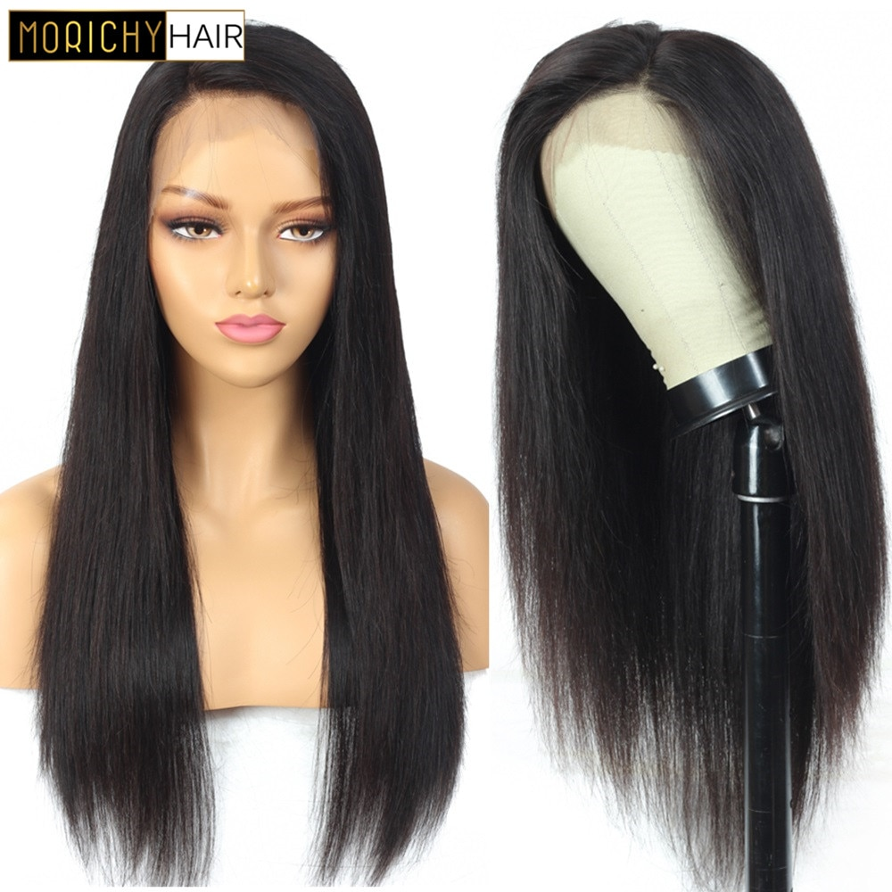 Morichy 13x4 Straight Lace Front Wig Human Hair Wigs For Women Human Hair Wigs Pre Plucked Brazilian Straight Lace Frontal Wig