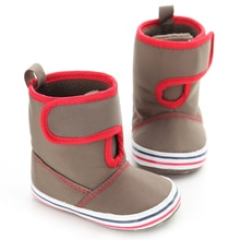 NewWarm Winter Long Tube Baby Shoes Girls Boys Cashmere Thermal Baby Shoes Outdoor Wear Soft Insole