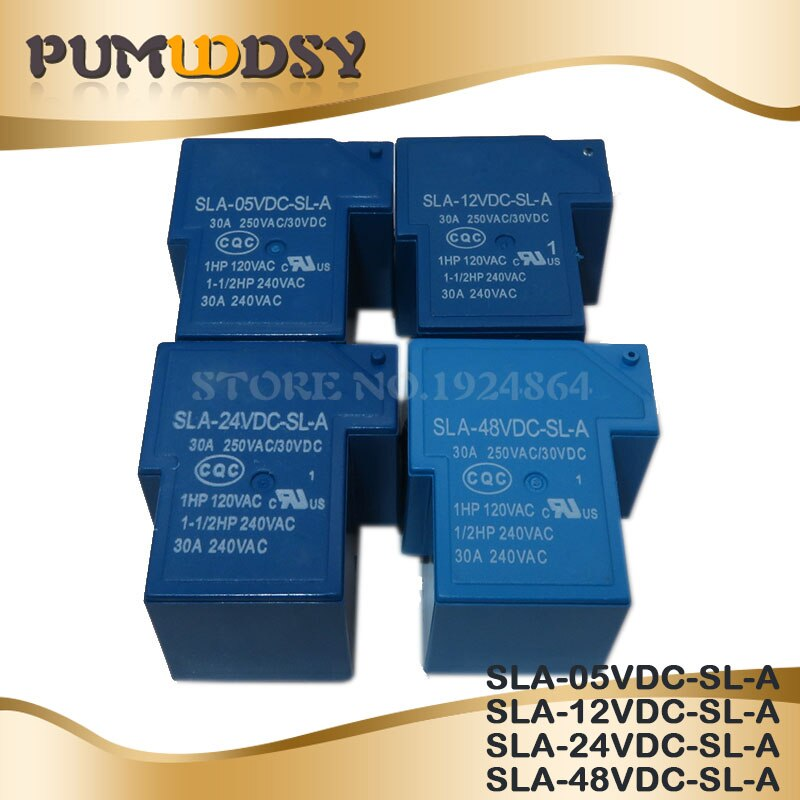 2 unids/lote s SLA-05VDC-SL-A SLA-12VDC-SL-A SLA-24VDC-SL-A SLA-48VDC-SL-A 5V 12V 24V 48V 48V 30A 5PIN T90