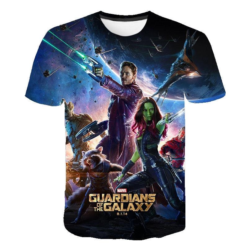 Drôle 3D fusée raton laveur t-shirt gardiens de la galaxie t-shirt hommes femmes enfants décontracté t-shirt garçon fille enfants hauts Cool t-shirts