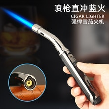 New Windproof Straight Into The Strip Lighter Creative Gas Welding Gun Spray Ignition Gun Cigar Ligh