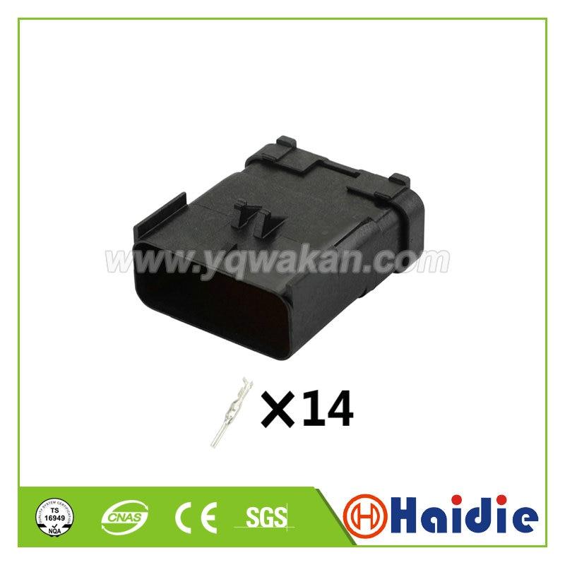 Envío gratis 2 juegos 14pin auto eléctrico macho cable impermeable cableado conector...