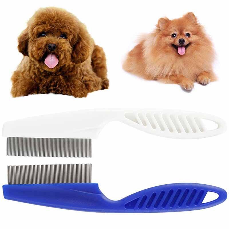 Cepillo de dientes fino para mascotas, accesorios para mascotas, herramienta de limpieza, cepillo para piojos, Fleas, portátil, acero inoxidable