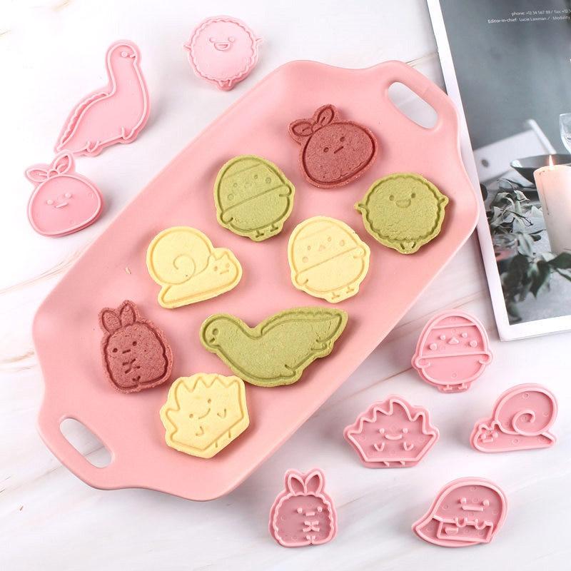 8Pcs/set Cookie Cutters Fondant Cutter Plastic animal Shape Cookie Mold DIY Fondant Pastry Decorating Baking Biscuit mold