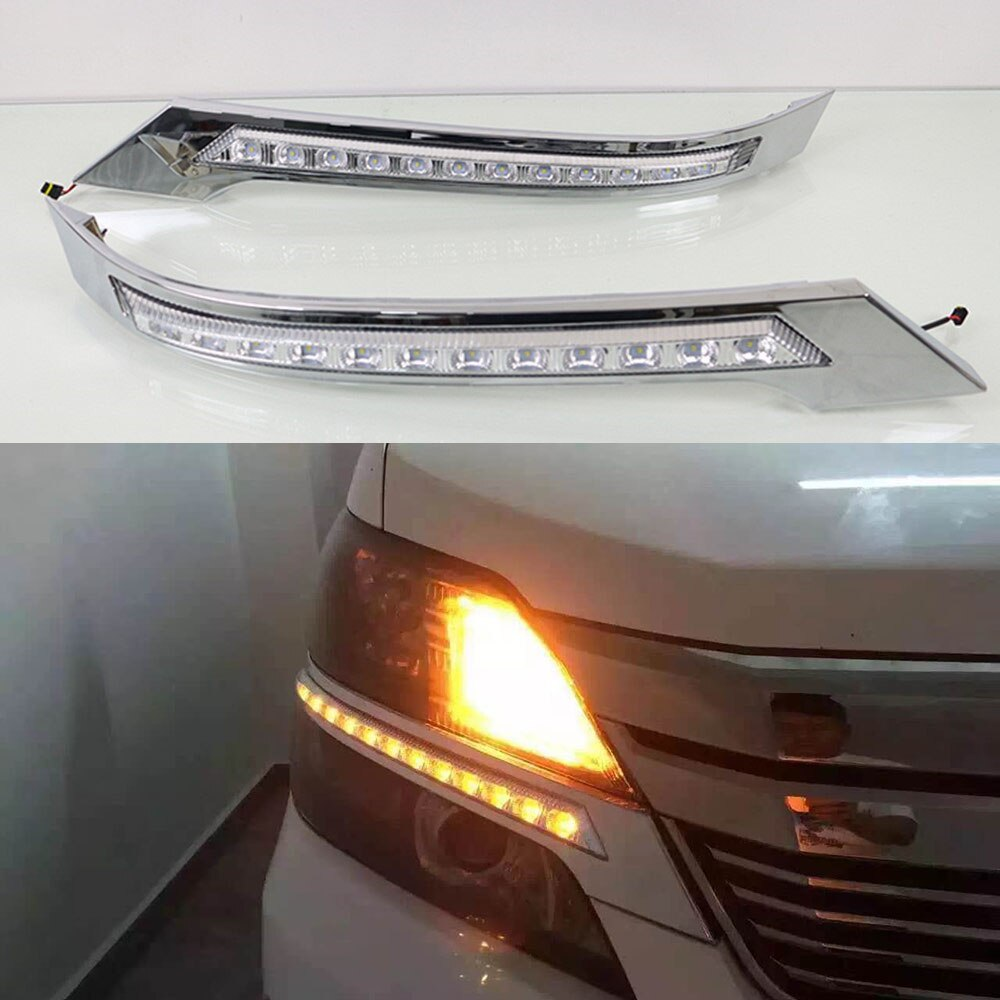 Clignotant de voiture   2 pièces DRL pour Toyota Vellfire, 2008 2009 2010 2011