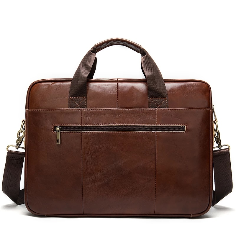 Messenger Shoulder Men Briefcase Bag Genuine Leather Handbag For Laptop Document A4 Crossbody Bolso Sac Bolsa Hit Vintage 2020