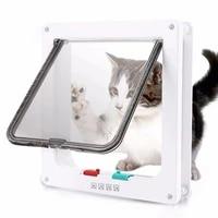 cat flap door with 4 way security lock abs gate door for dog cats animal small pet cat dog gate door cat flap doors s xl