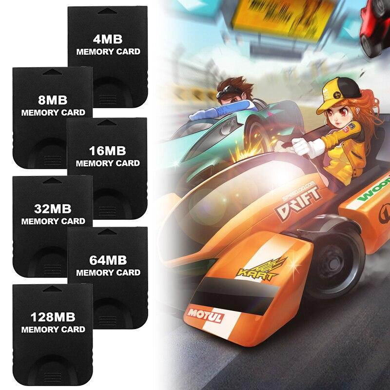 Tarjeta de memoria negra Megabyte de 8/16/32/64/128MB para Nintend Ngc/Will consola de datos de juegos para consolas de videojuegos para Pc Gamer completo