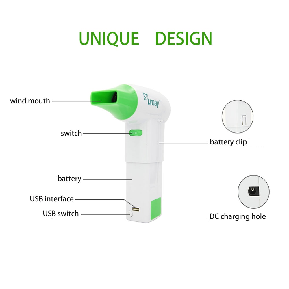 Newest  Wireless Hair Dryer with Replaceable Battery Detachable Tuyere Hot and Cold Wind Two Files for Pet Baby Outdoor Camping enlarge