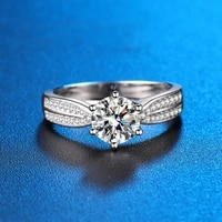 wholesale fine jewelry factory high quality real s925 sterling silver snowflake rings finger ring jewel accessories wedding