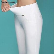 High quality pencil pants capris women 2018 summer style high waist elastic skinny pants female trou