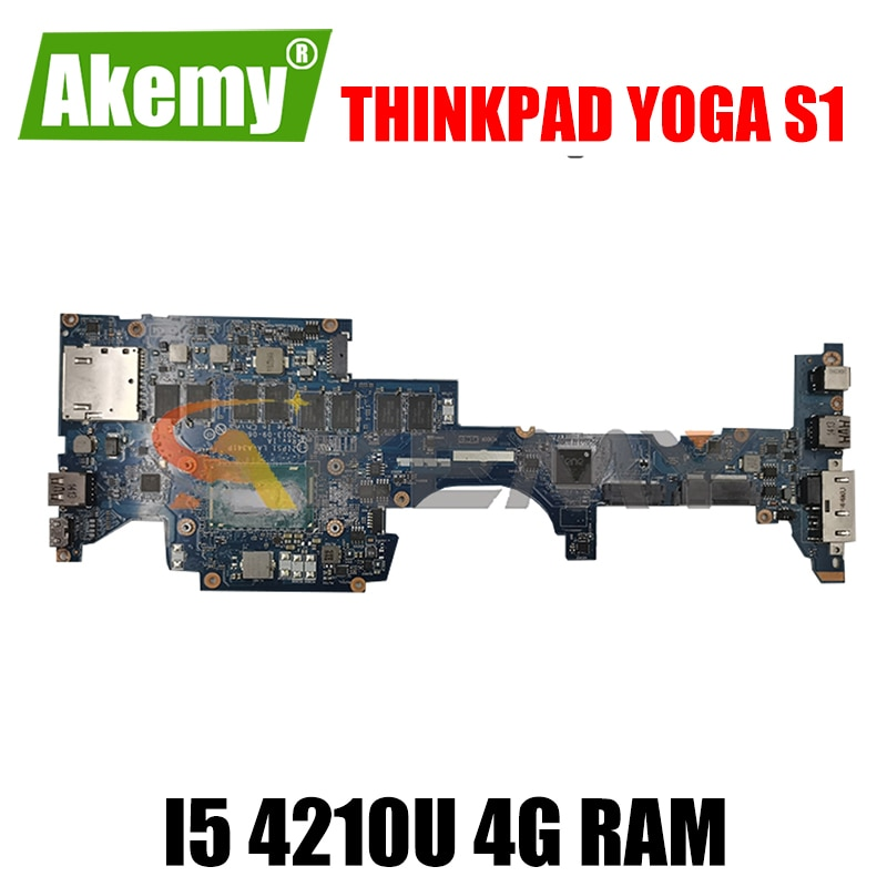Akemy zip S1 LA-A341P اللوحة لينوفو ثينك باد اليوغا S1 اللوحة الأم CPU I5 4210U 4G RAM 100% اختبار العمل