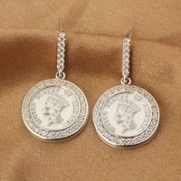 the irishman the statue of liberty coin earring real 925 sterling silver moissanite drop earrings for women party vintage