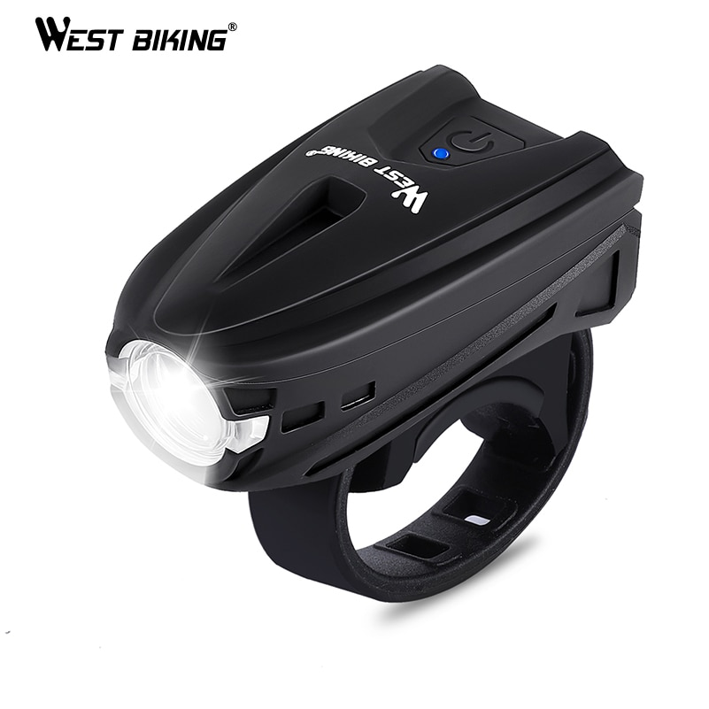 WEST BIKING 250 Lumens Bicycle Lights Touch Button USB Charging Cycling Flashlight Bicycle Accessories MTB Road Bike Front Light