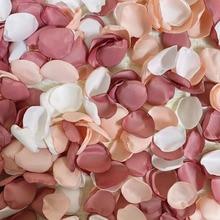 100 unids/bolsa de pétalos de rosa hechos a mano para boda, flor de seda Artificial, decoración de matrimonio, San Valentín, 2021