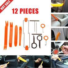 12 Uds. Interior Kit de herramientas de palanca Clip de puerta Panel de Radio portátil Auto coche Kit de eliminación de plástico ajuste Dash Audio herramienta de reparación de desmontaje