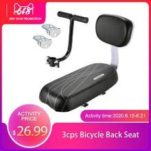 Child Safety Bike Rear Seat Bicycle Back Seat With Back Rest Handle Armrest Footrest Baby Back Saddle Cover Bike Rear Seat Pedal