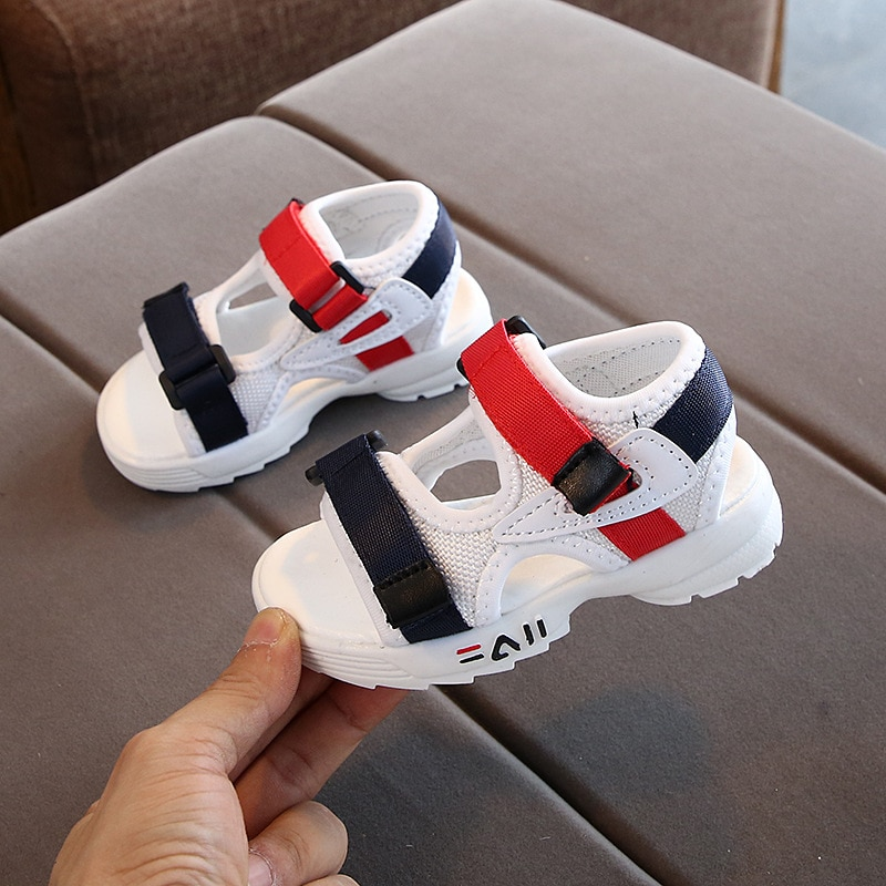 2020 summer new children's sandals baby toddler shoes girls beach shoes soft bottom non-slip boys sp