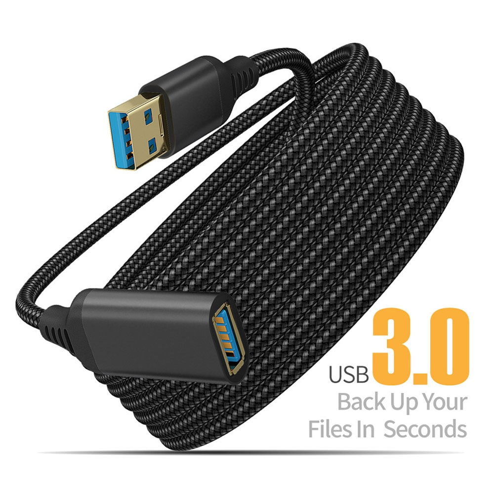 Cable de extensión USB 3,0 para PC, TV, PS4, ordenador, portátil, extensor...