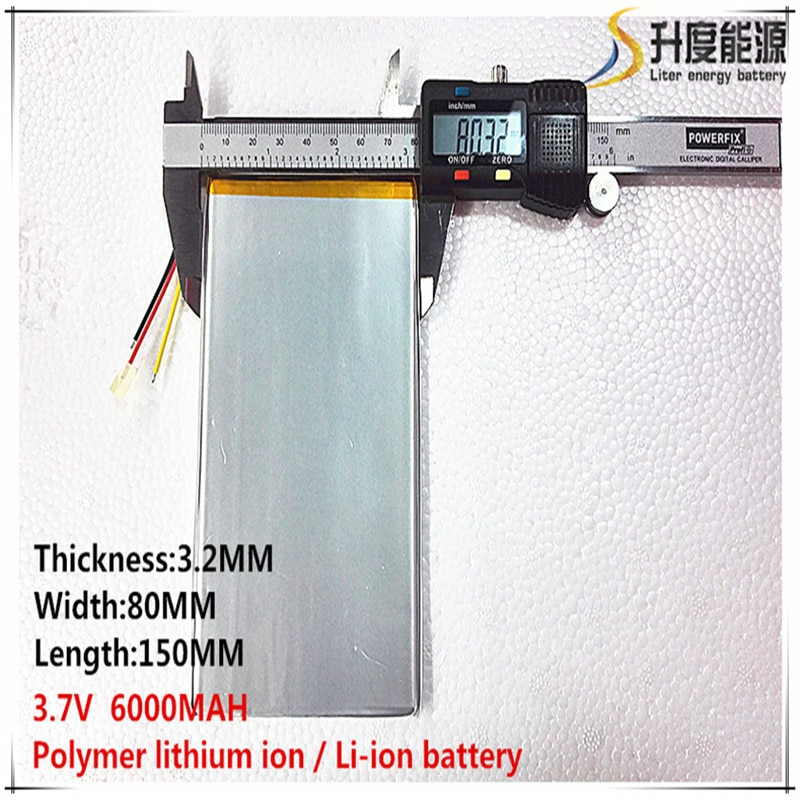 1 Uds envío gratis buena calidad 3,7 V 6000mAH (Real 5900 mAh) batería de iones de litio para CHUWI V88... V971... Pipo M9 Tablet PC 3,2*80*150mm