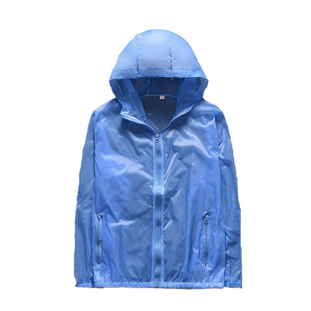 Women Men Anti UV Sun Coat Long Sleeve Quick Dry Waterproof Hoodie Clothes TY53