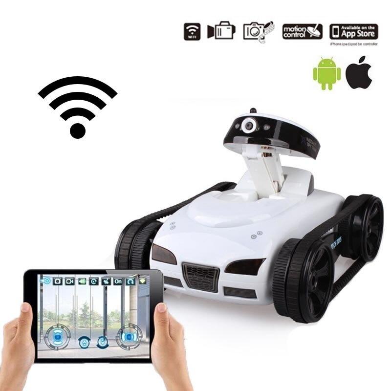 Fpv ispy wifi transmiss em tempo real mini rc tanque hd câmera de vídeo controle remoto robô carro inteligente ios anroid app brinquedos sem fio