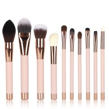 Professional Makeup Brushes Set 10PCS/lot Wood Handle with Magnet Make up Synthetic Hair Foundation/