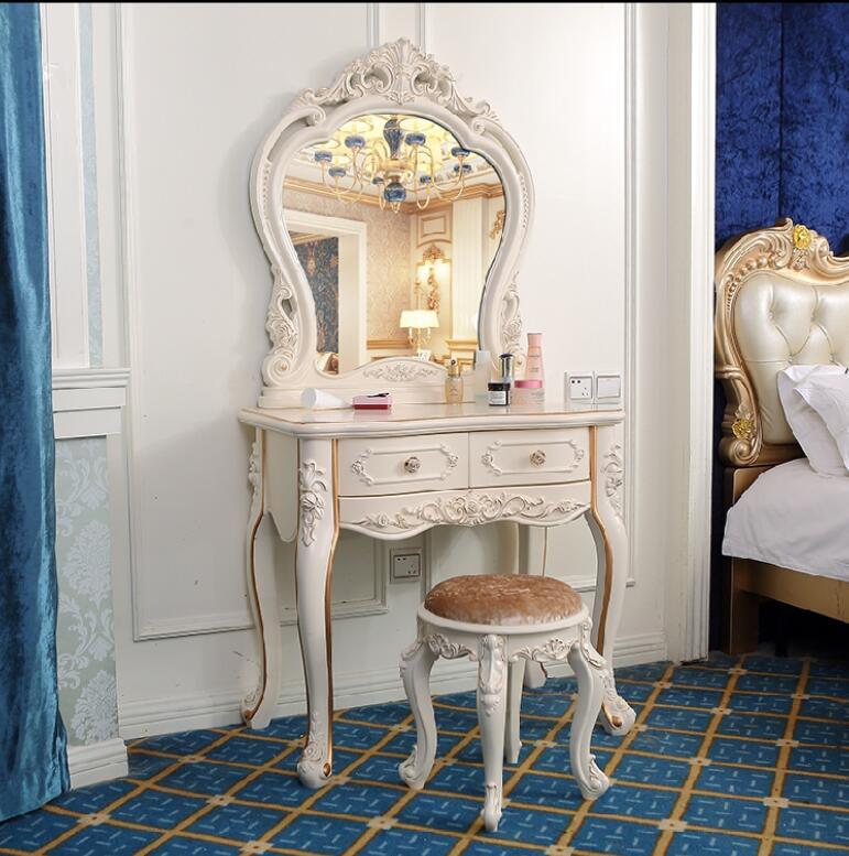 Европейский стиль, туалетный столик для спальни, макияжный стол, многофункциональный пасторальный сетчатый красный ins французский туалетн...
