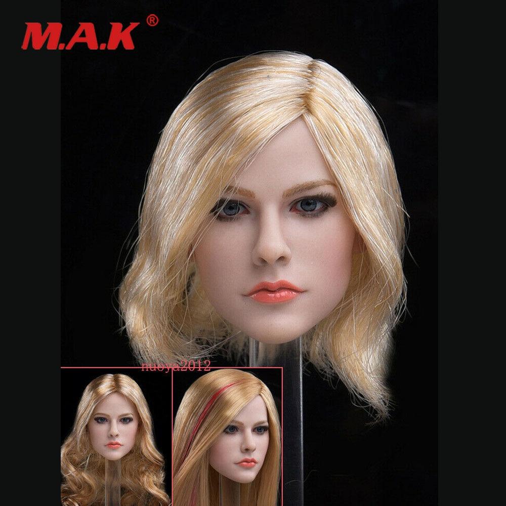 1/6 cabello rubio Avril Lavigne modelo F/figura de acción JXTOYS 028