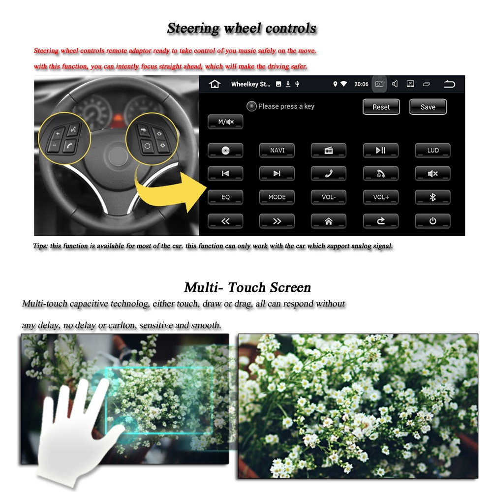 Car Android System For BMW E90/E91/E92/E93 2005-2012 Radio GPS Navigation Wifi HD Screen Multimedia Player